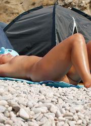A nude girl at the Banana Image 3