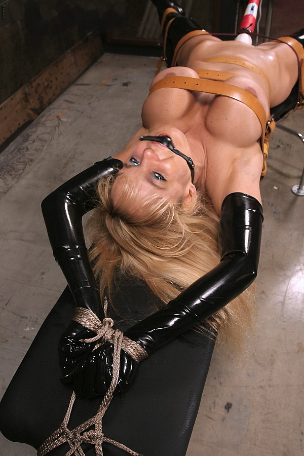 Bound and gagged latex