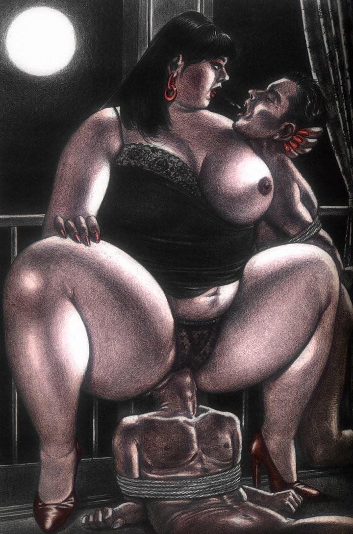 Порно толстые госпожа