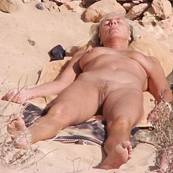 mature woman at nudist beach naked