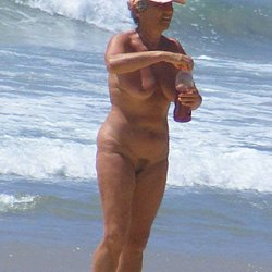 Hot Nude mature woman at nudist beach