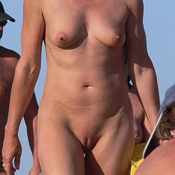 Nude mature woman at nude beach
