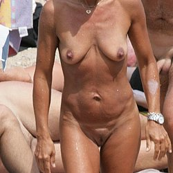 Nude mature nudist at nudist beach