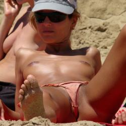 Bikini's Barefaced Panties on a beach - section