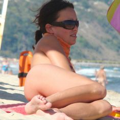 Voyeur photo from nude beach