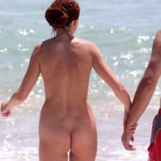 You are the voyeur on nude beach now!