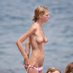 Nudist beach voyeur shot