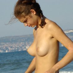 Nude beach voyeur photo