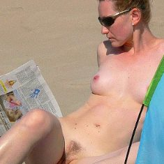 Nude beach voyeur photo