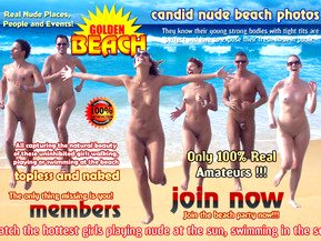 Golden Beach - 'Golden Beach' - voyeur adult web site based on the candid, no modeling voyeur shooting. A huge library of images of the most beautiful babes on the beach! Often topless, in thongs, or even totally naked. These chicks know how to party and have fun in the sun with their friends.