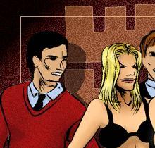 BDSM comics `A New Secretary`, episode 2