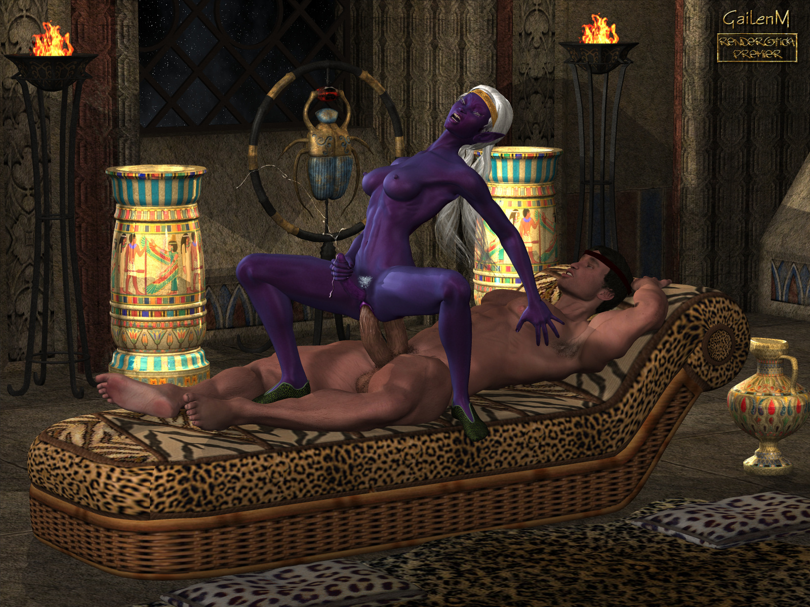Anime 3d busty purple elf gets fucked  sexy pussies
