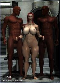 3d interracial fucking