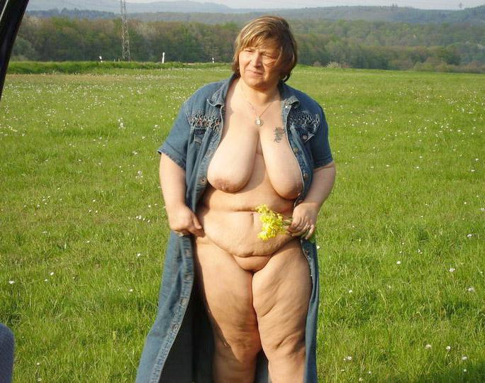 Фото Пожилой Полной Женщины Без Одежды