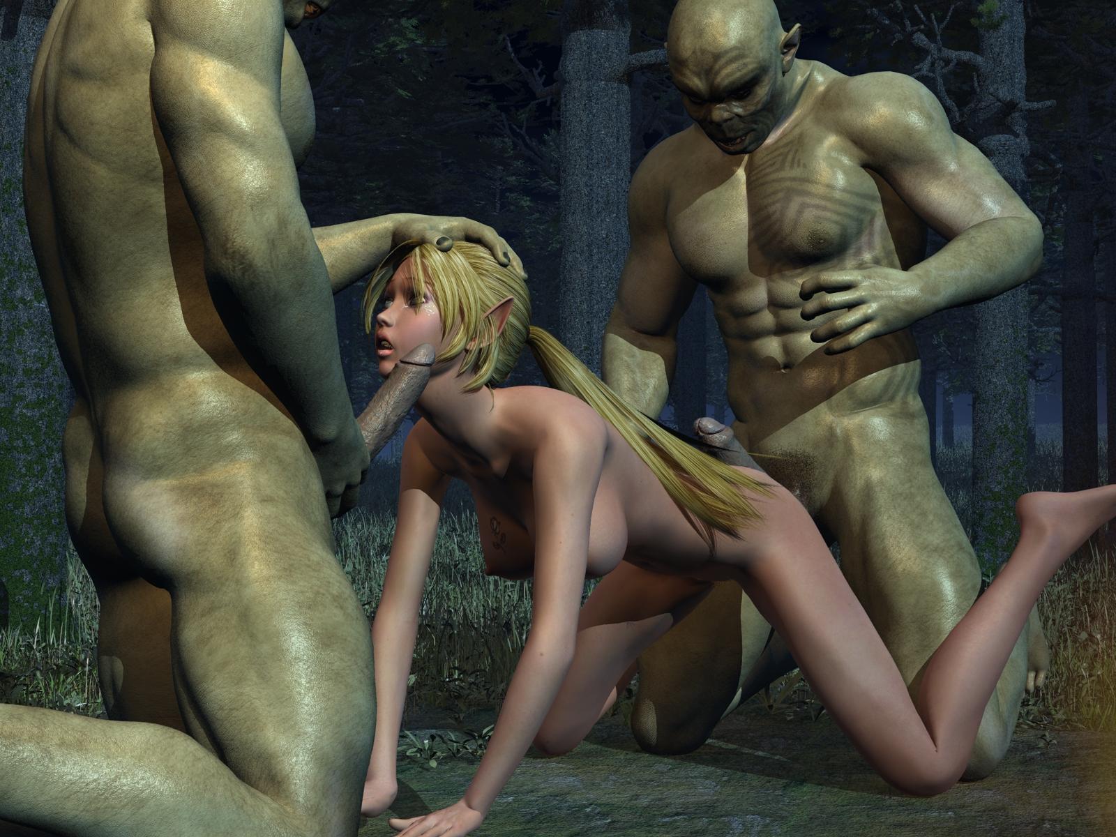 Смотреть порно с монстрами 3d