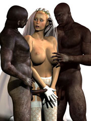 Interracial 3D sex orgies
