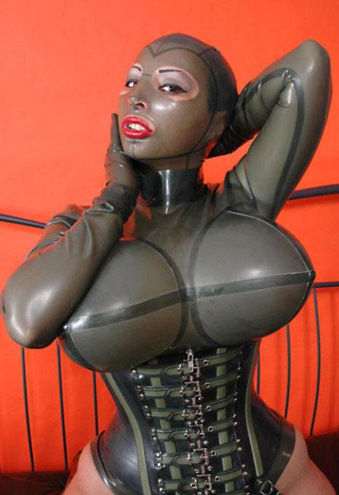 Breasts Cjflo Cleavage Clothed Latex Xkeezmovies 1