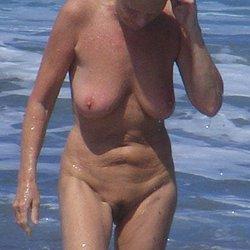Nude mature nudist at nudist beach