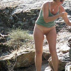 Hot Nude mature woman at nudist beach