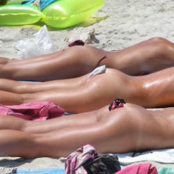 Bikini's Barefaced Panties on a beach - section