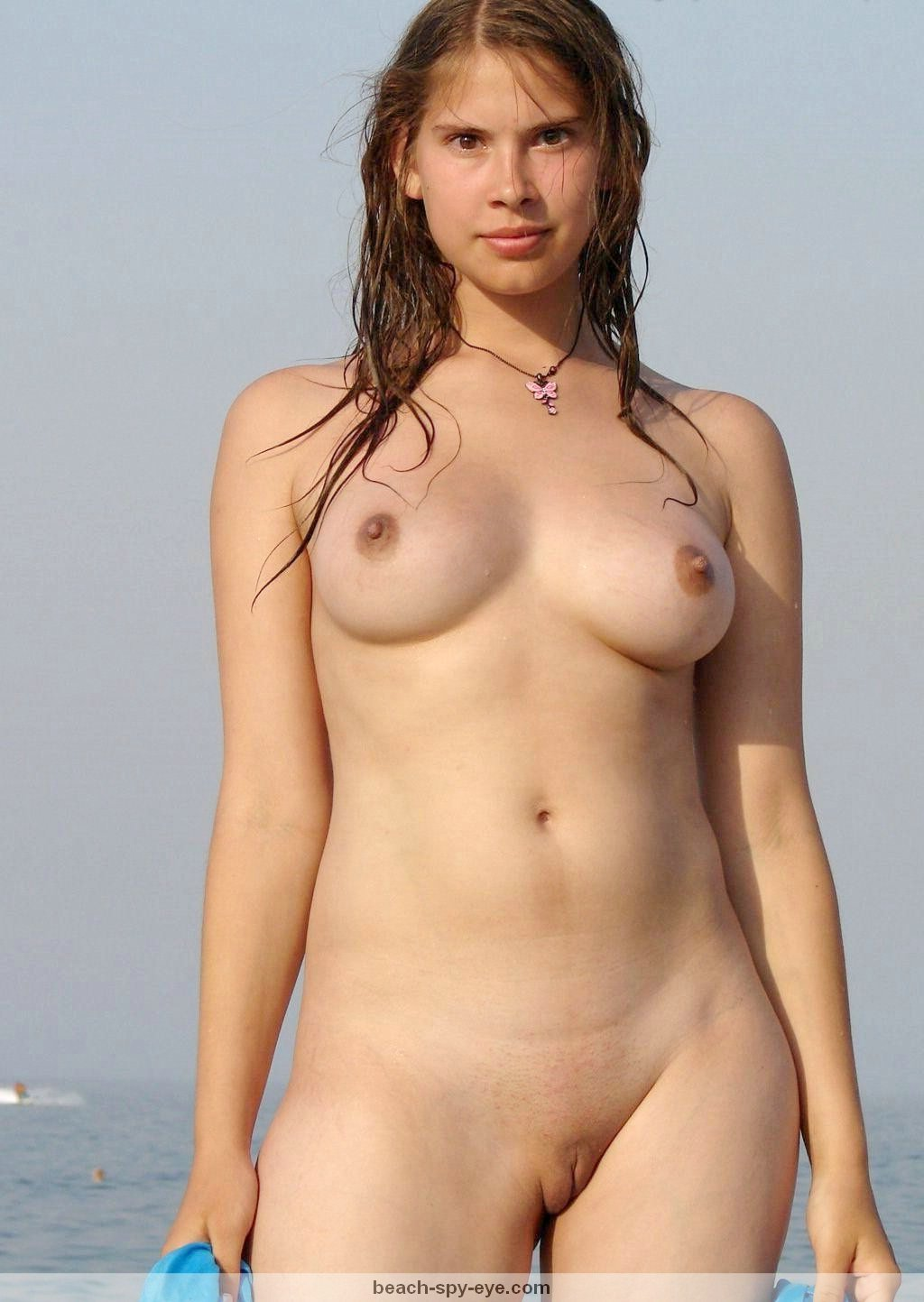 Nude Beach Voyeur Photos - Young Teenage Nudist Naked At Beach-6483