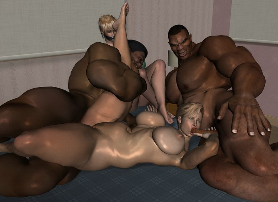 3d interracial sex