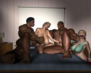 3d interracial