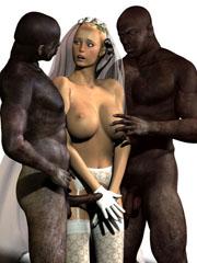 Interracial 3D sex orgies